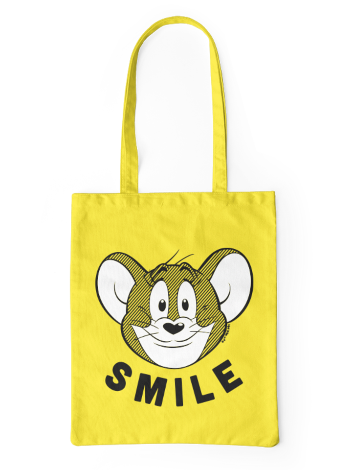 Looking for an original and unusual gift? The gifted person will surely surprise with Canvas Tote Bag Tom & Jerry ™ Smile