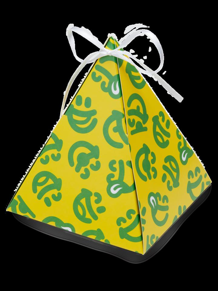 Zľava Pyramídová darčeková krabička Dedoles