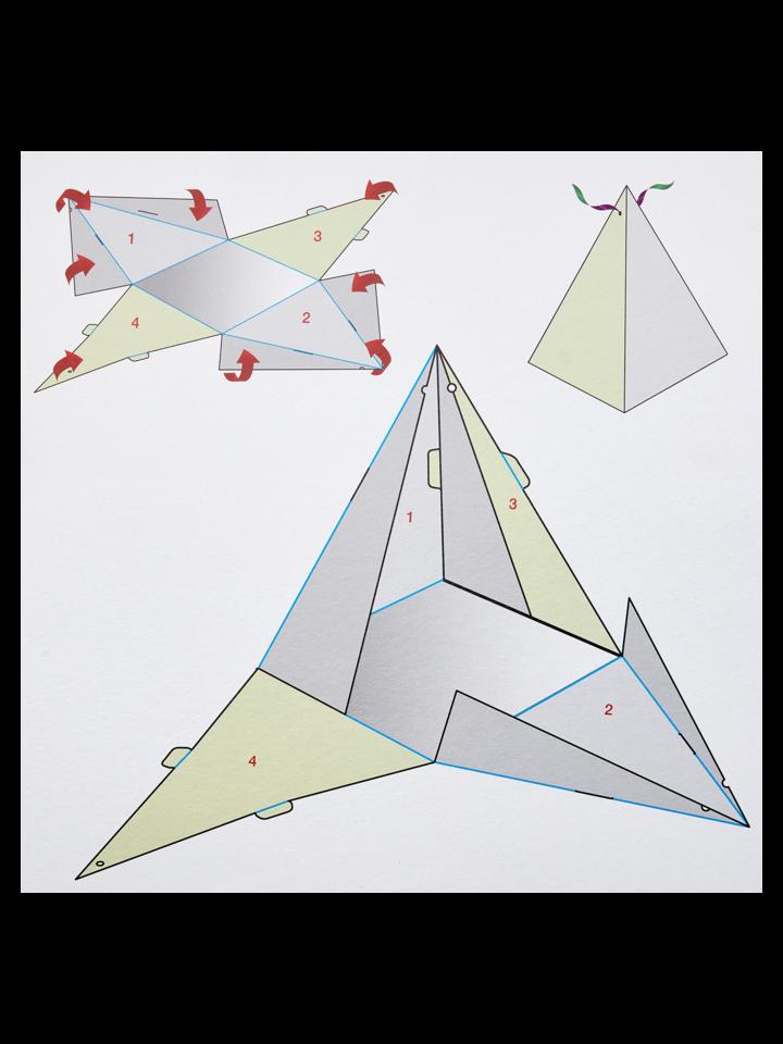 Foto Pudełko na prezent w kształcie piramidy imprezowe balony