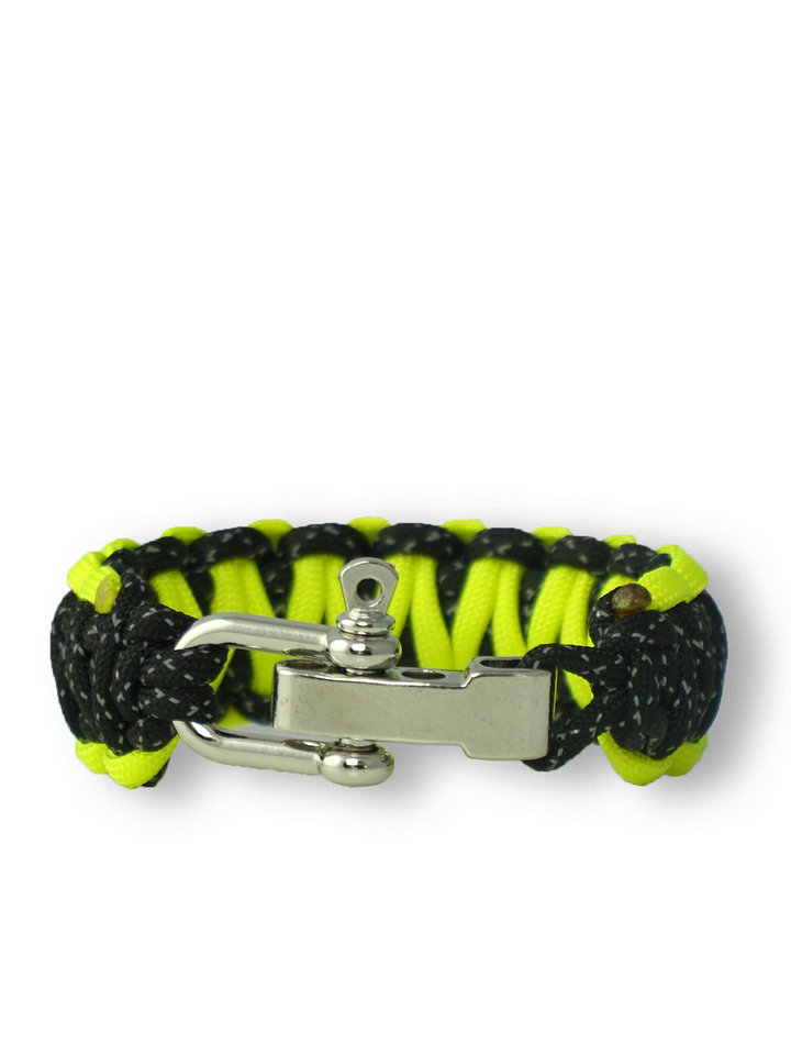 Lifestyle photo Reflective Paracord Bracelet Night Line With Adjustable Buckle