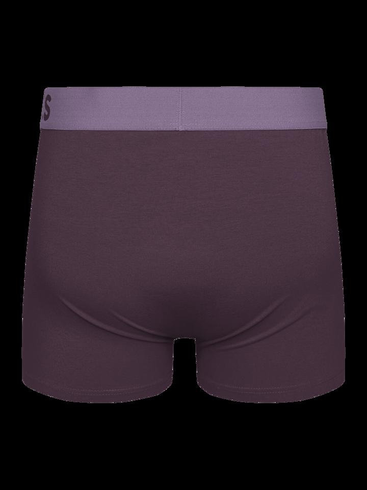 Lifestyle foto Slivkovo fialové  pánske boxerky