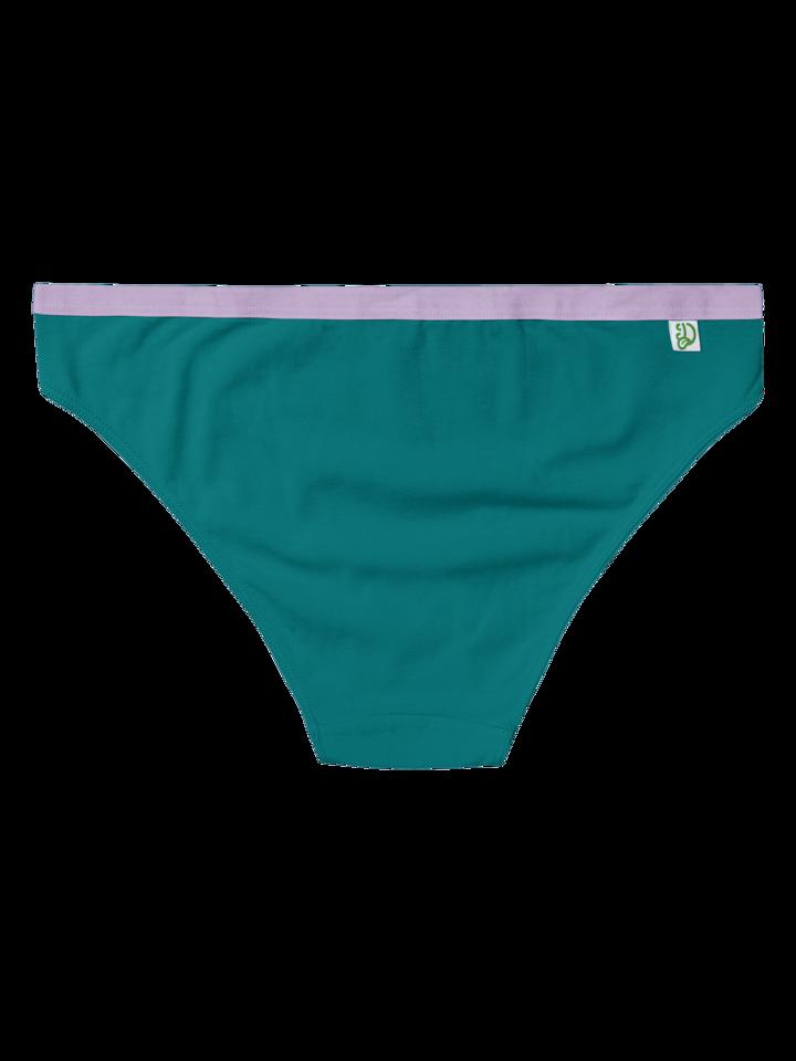 Lifestyle foto Smaragdovo zelené dámske nohavičky