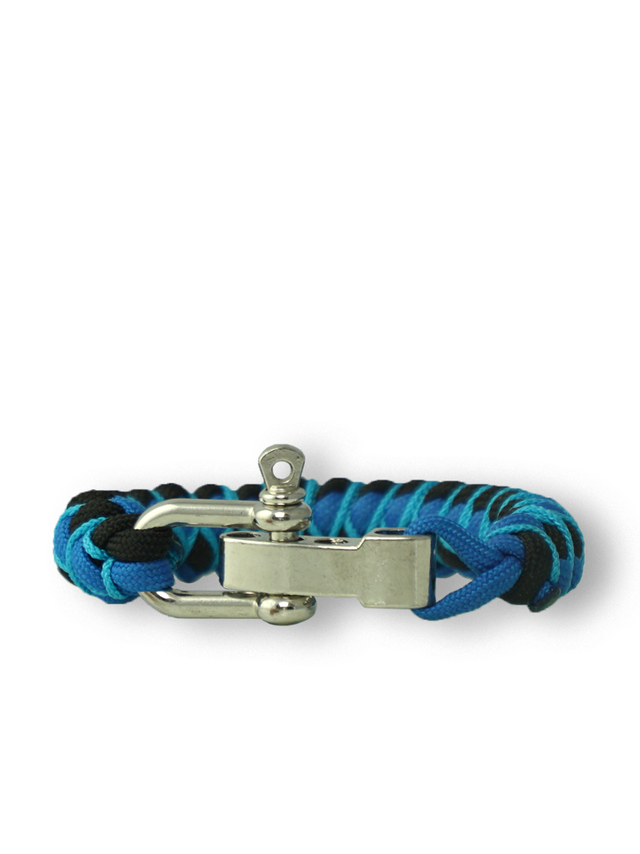 Looking for an original and unusual gift? The gifted person will surely surprise with Blue Paracord Bracelet Skip With Adjustable Buckle