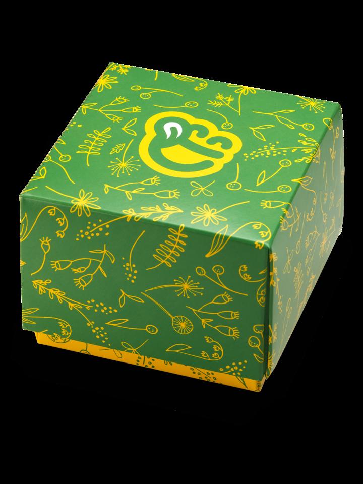 Sleva Čtvercová dárková krabička Jarní květy
