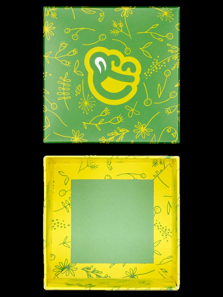 pro dokonalý a originální outfit Čtvercová dárková krabička Jarní květy