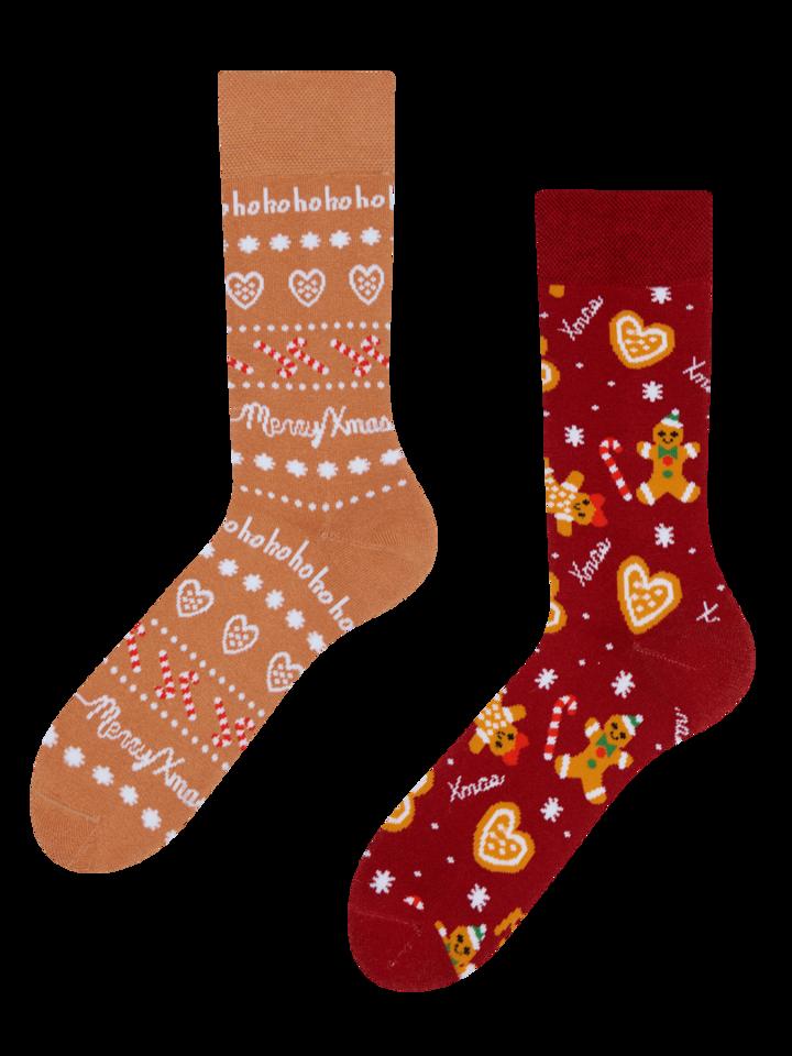 Zľava Teplé veselé ponožky Perníkový svet
