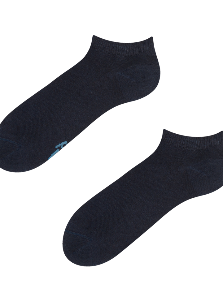 Sale Navy Blue Bamboo Ankle Socks
