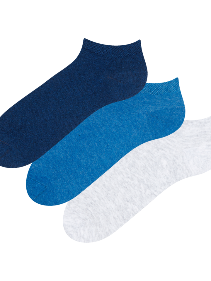 Gift idea Recycled Cotton Ankle Socks 3-pack Visionary