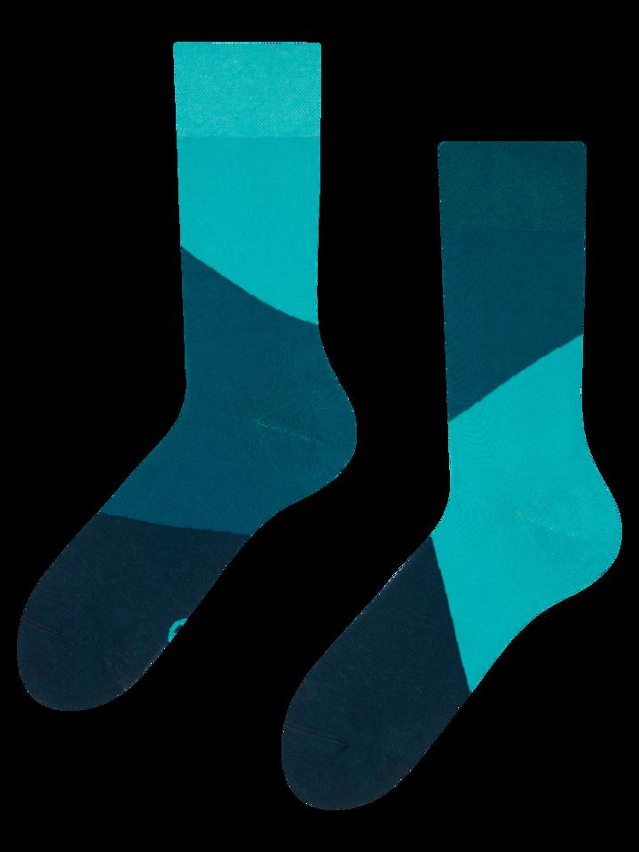 Zľava Tyrkysové ponožky Cik-cak