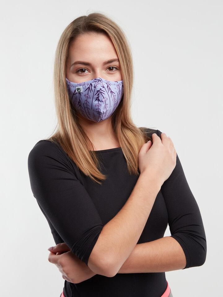 Potešte sa týmto kúskom Dedoles Vrolijke antibacterieel mondkapje Lavendel - grote maat