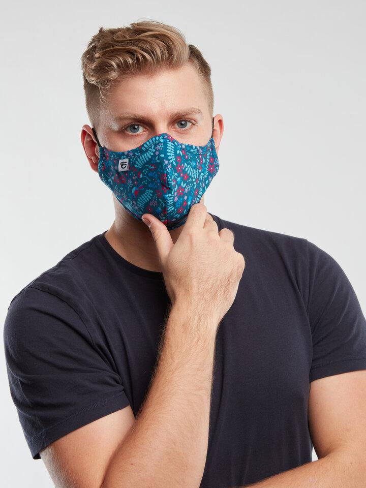 Foto Lustige antibakterielle Gesichtsmaske Geheimer Garten