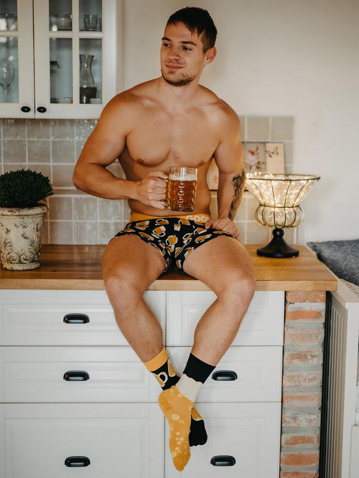 Kiárusítás Vidám férfi bokszeralsó Csapolt sör