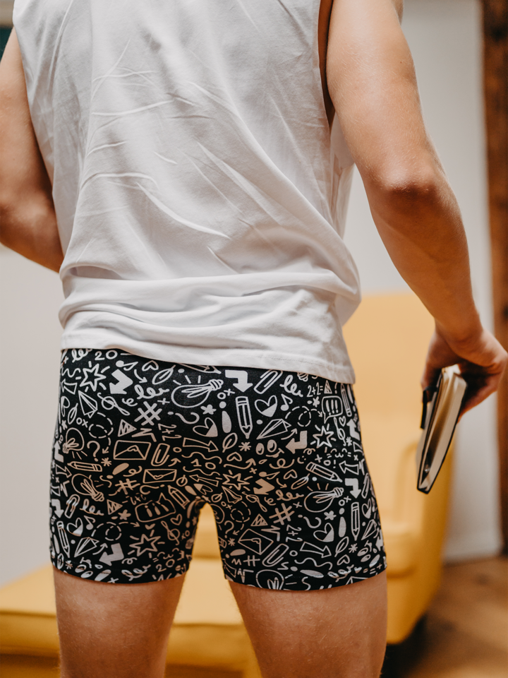 Lifestyle foto Boxeri Veseli pentru Bărbați Desene