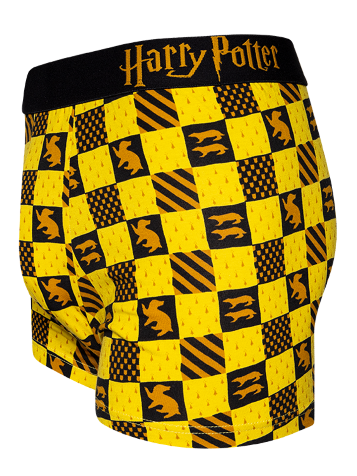 Lifestyle foto Vrolijke heren trunks Harry Potter ™ Huffelpuf