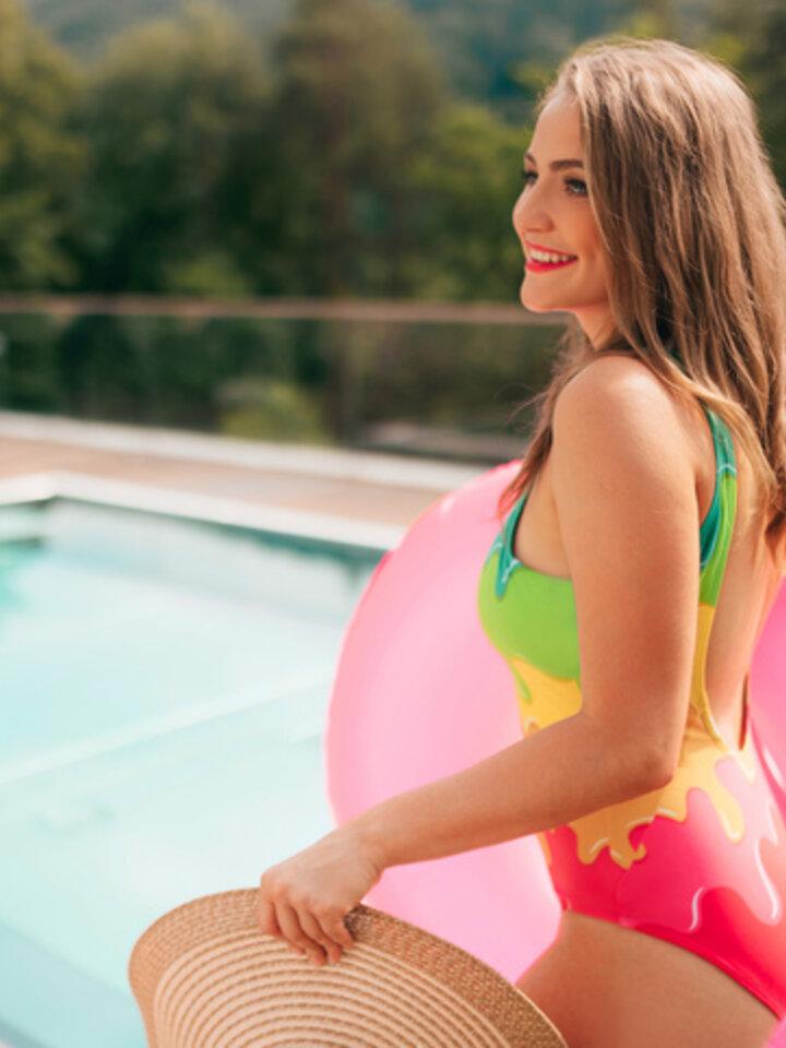 Gift idea One-piece Swimsuit Colour splash