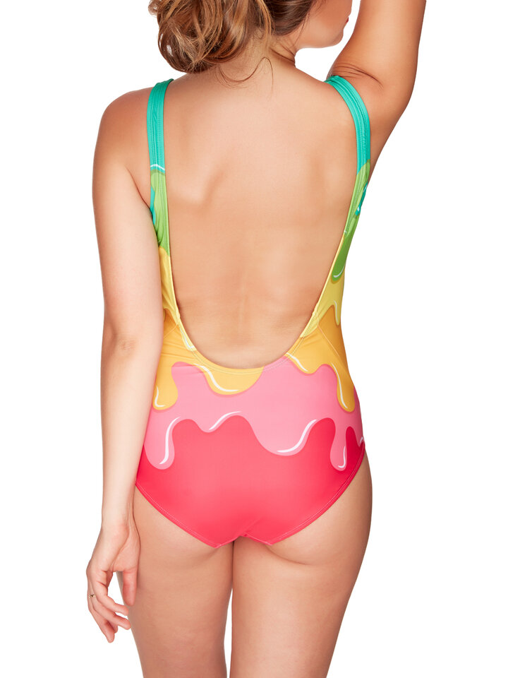 Pre dokonalý a originálny outfit One-piece Swimsuit Colour splash