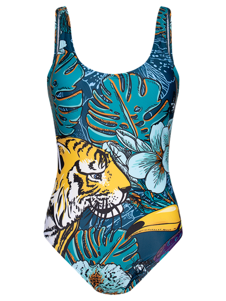Gift idea One-piece Swimsuit Tropical jungle