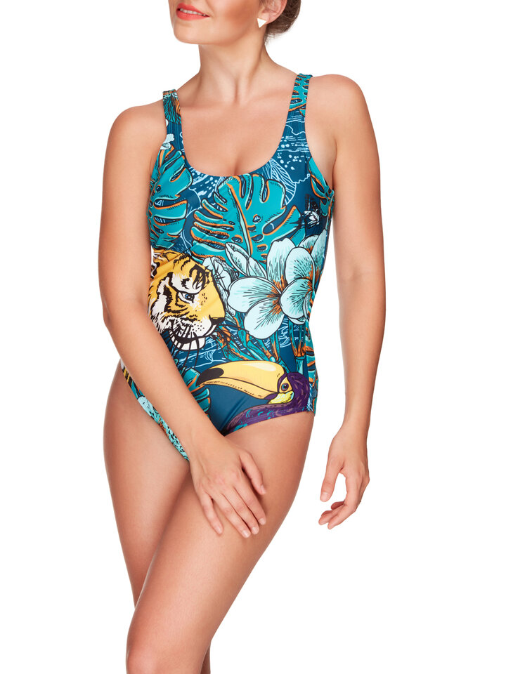 Lifestyle photo One-piece Swimsuit Tropical jungle
