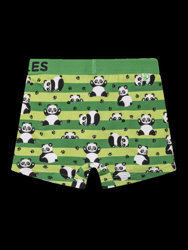 Potešte sa týmto kúskom Dedoles Wesołe bokserki chłopięce panda i pasy
