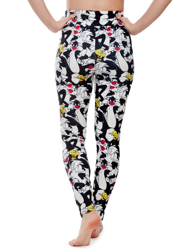 Looking for an original and unusual gift? The gifted person will surely surprise with Looney Tunes ™ High Waisted Leggings Sylvester and Tweety