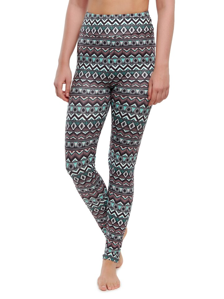 Výpredaj Vrolijke high-waisted leggings Ornament