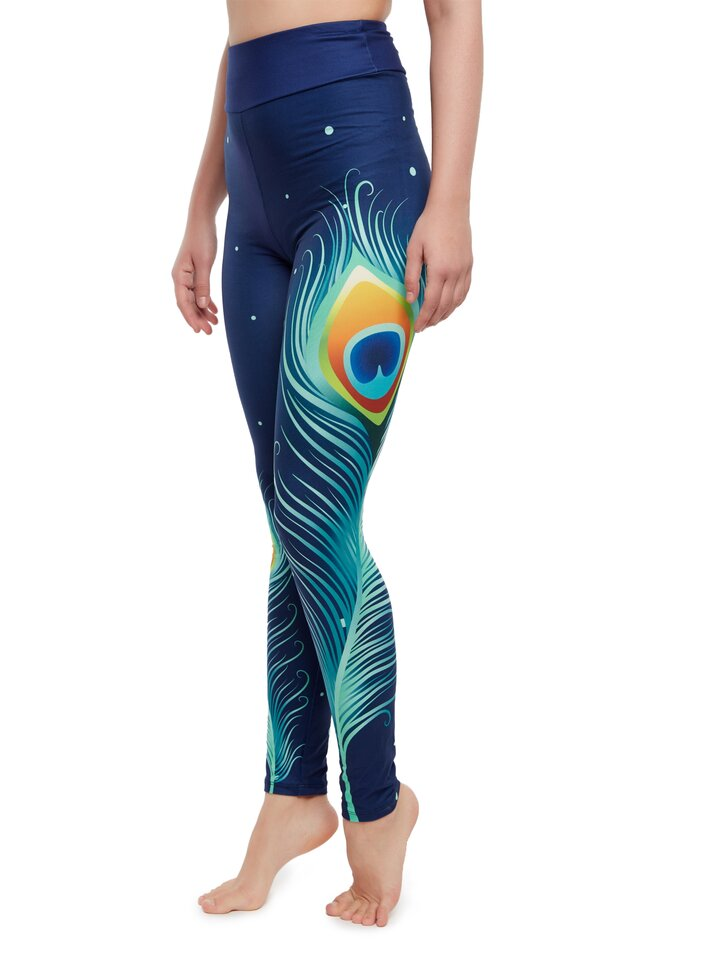 Looking for an original and unusual gift? The gifted person will surely surprise with High Waisted Leggings Peacock Feathers