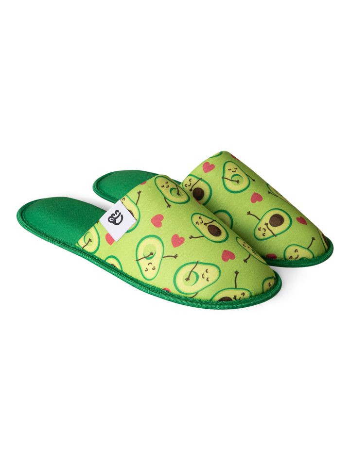 Looking for an original and unusual gift? The gifted person will surely surprise with Slippers Avocado Love