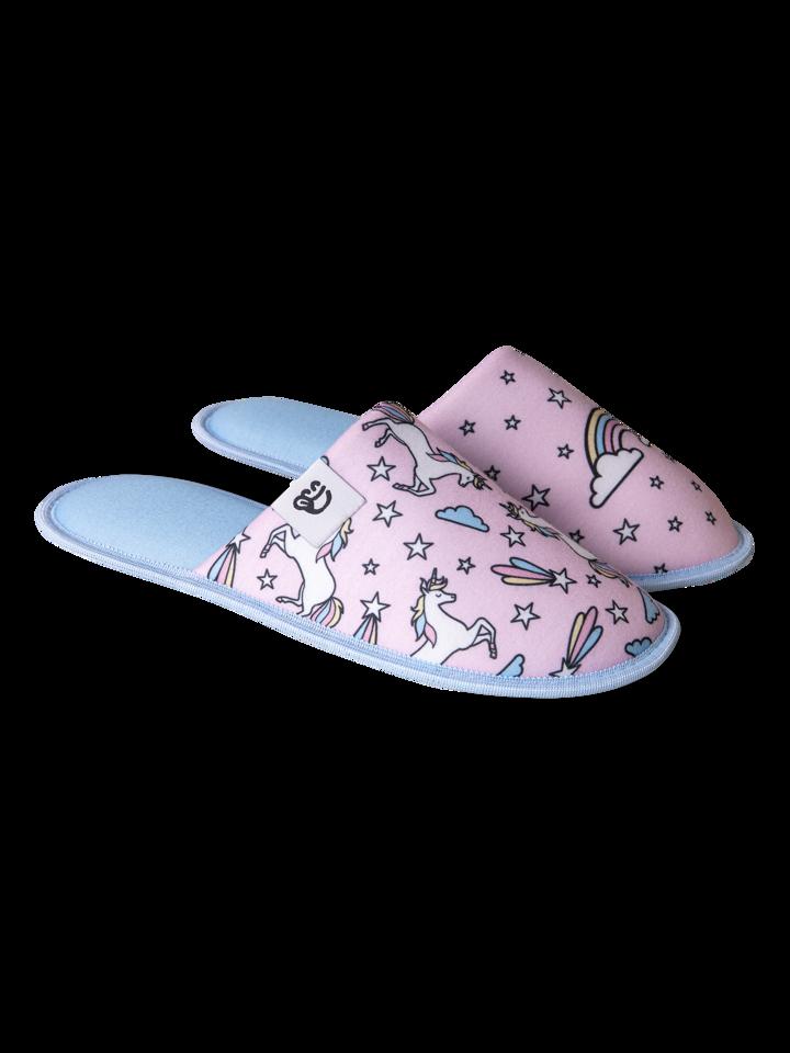 Gift idea Slippers Rainbow Unicorn