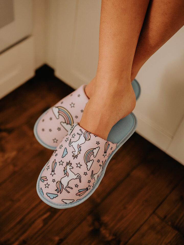 Original gift Slippers Rainbow Unicorn