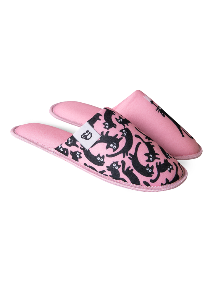 Sale Slippers Pink Cats
