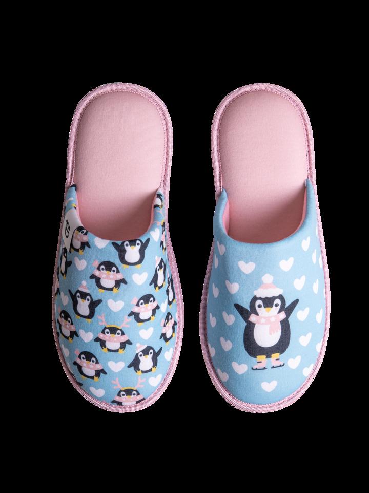Tip na darček Veseli copati Pingvin na drsalkah