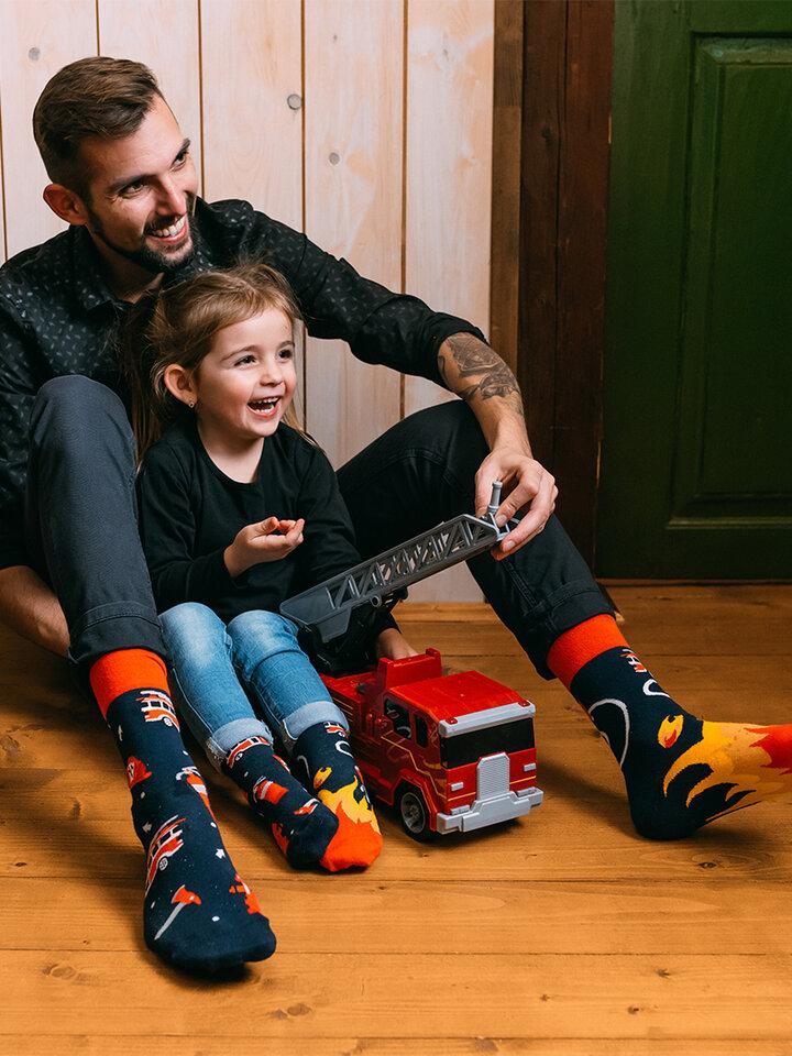 Pre dokonalý a originálny outfit Vrolijke sokken Brandweermannen
