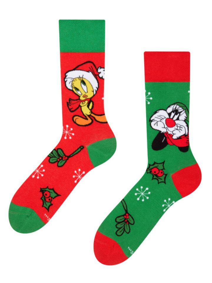 Obrázok produktu Chaussettes rigolotes Looney Tunes™ Célébration de Noël par Sylvestre et Tweety