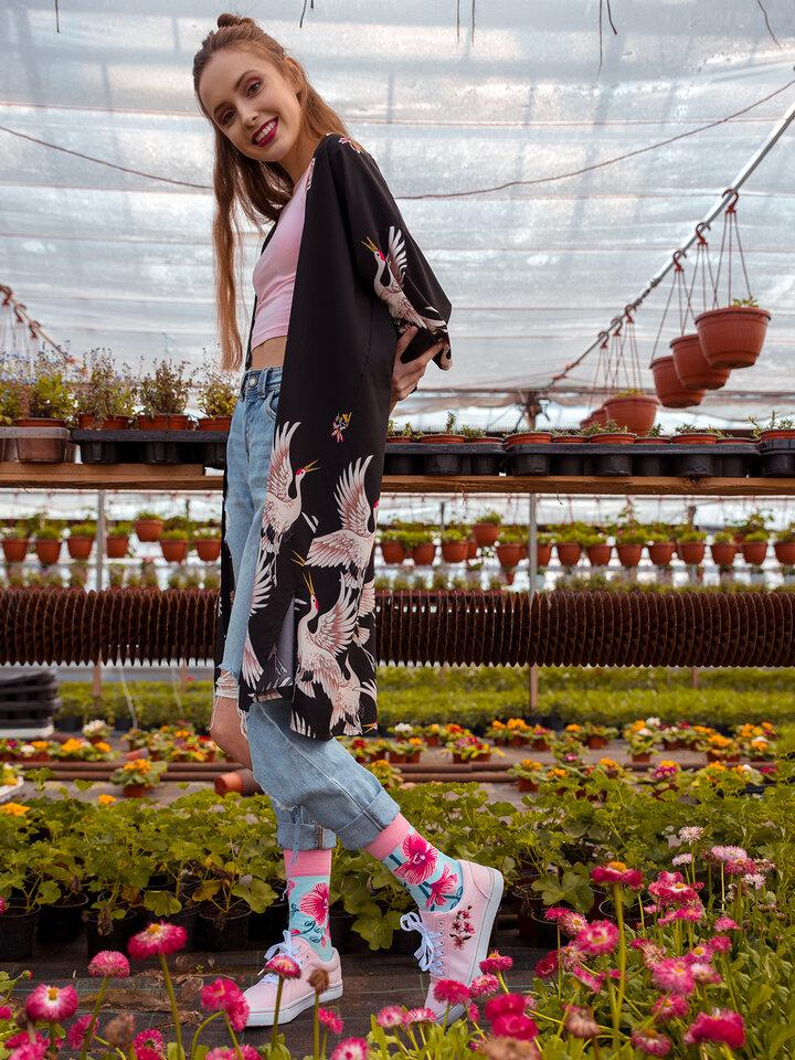 Lifestyle foto Calcetines alegres Orquídeas