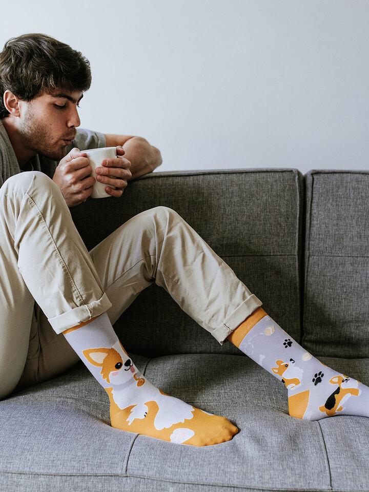Výnimočný darček od Dedoles Veselé ponožky Pes Corgi