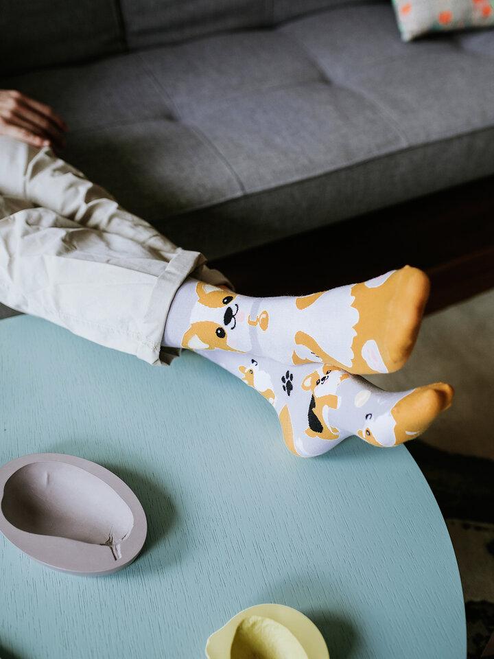 Tip na darček Veselé ponožky Pes Corgi