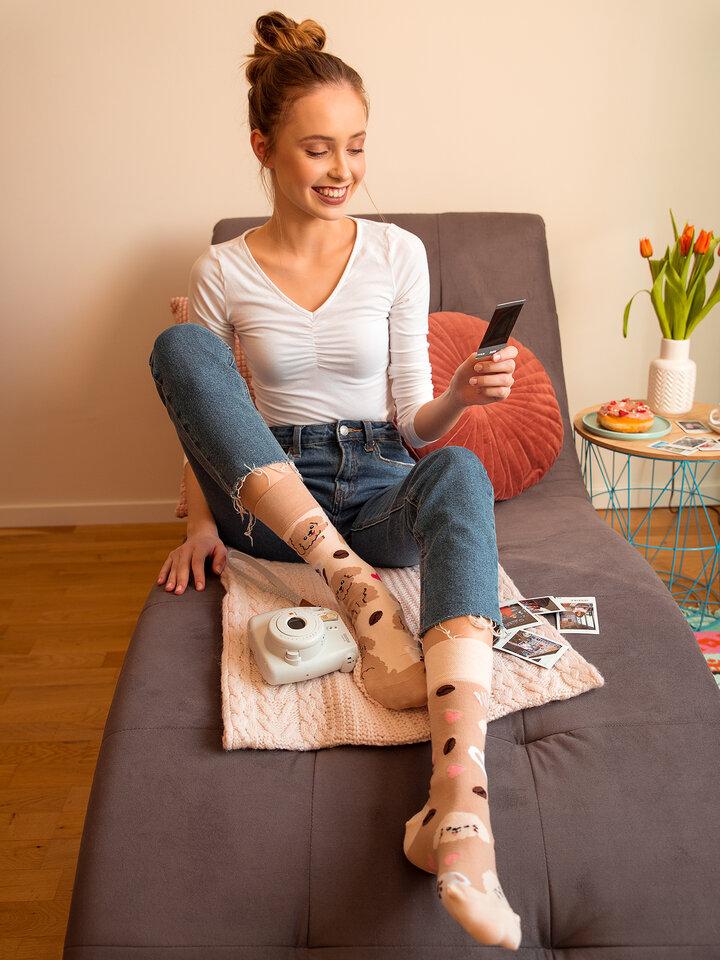 Lifestyle foto Vrolijke sokken Puppuccino