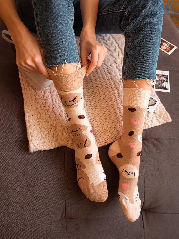Výnimočný darček od Dedoles Vrolijke sokken Puppuccino