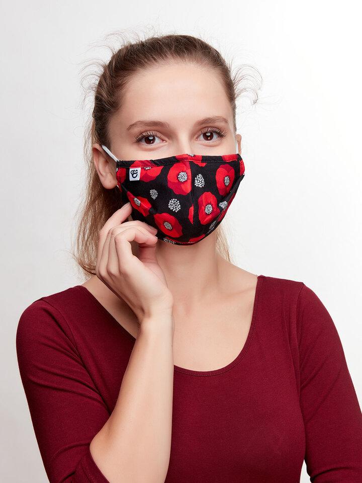 Pre dokonalý a originálny outfit Masque facial rigolo Fleurs de pavot
