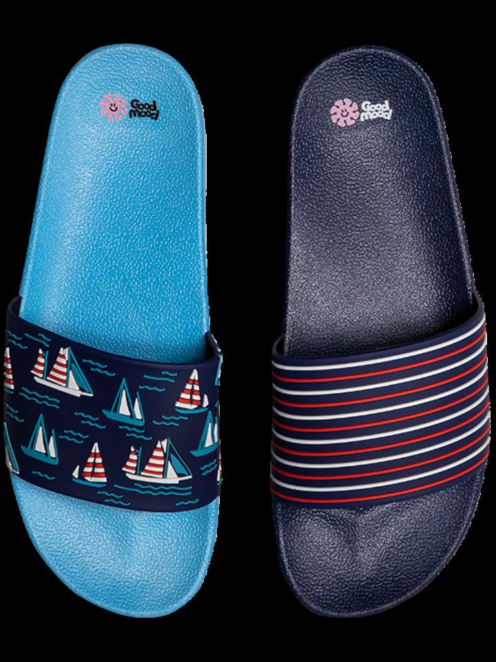 Pre dokonalý a originálny outfit Slides Sailboats