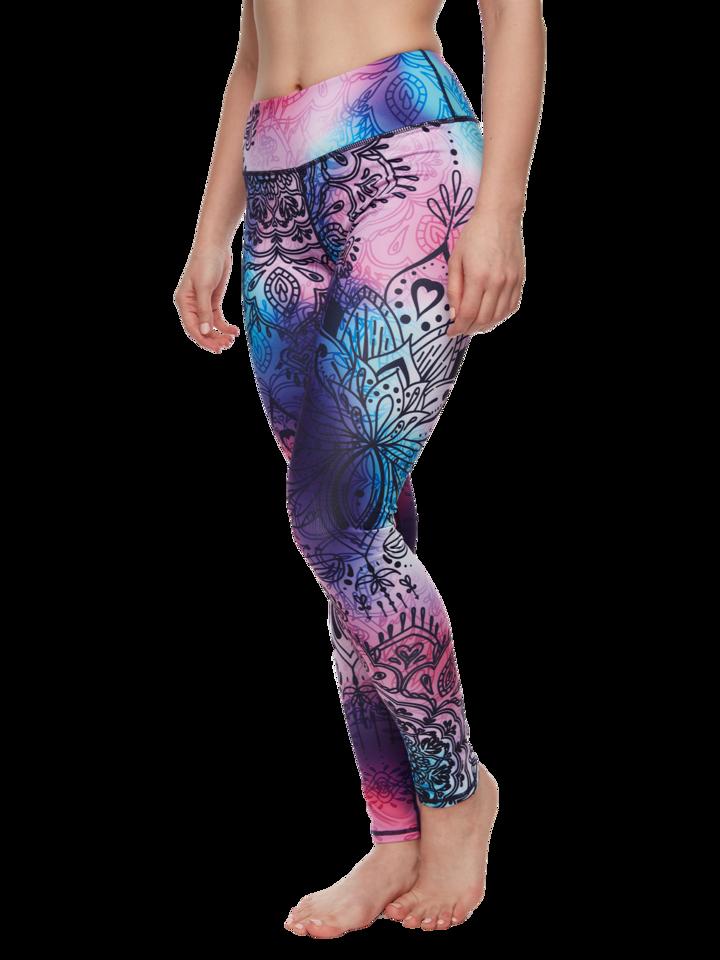 Pre dokonalý a originálny outfit Leggings d'entraînement rigolos Mandala coloré