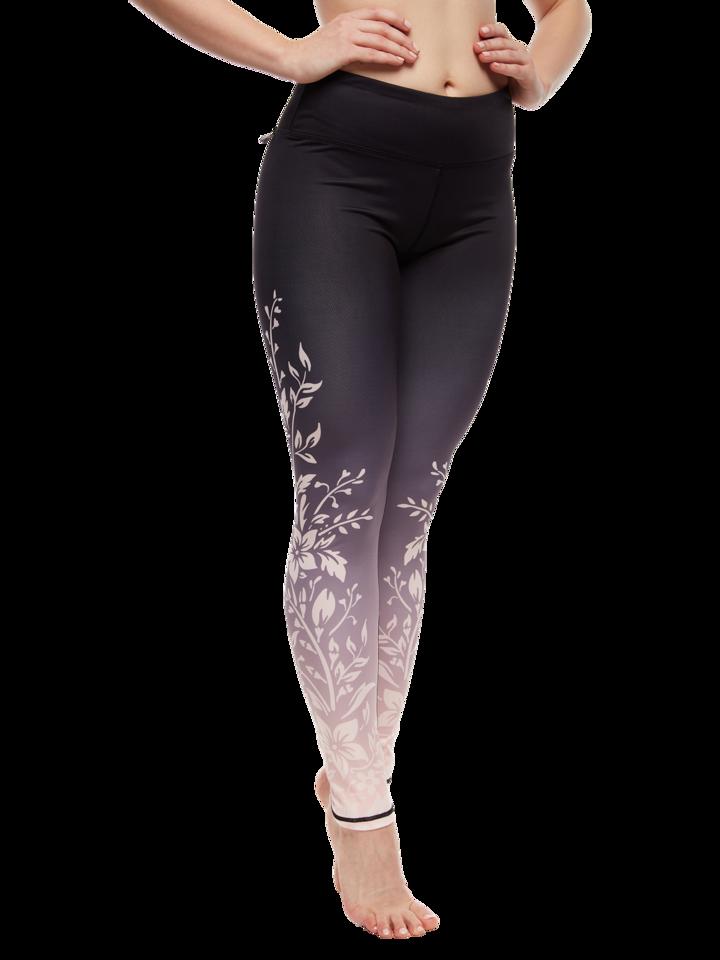 Pre dokonalý a originálny outfit Veselé športové legíny Ombré kvety