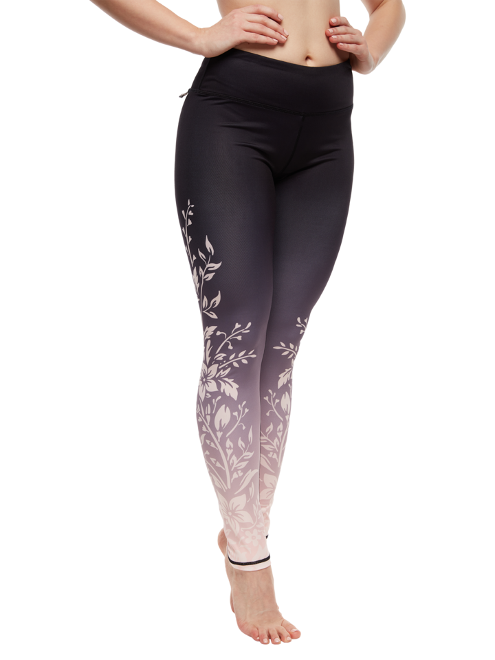 Pre dokonalý a originálny outfit Leggings d'entraînement rigolos Fleurs d'ombre