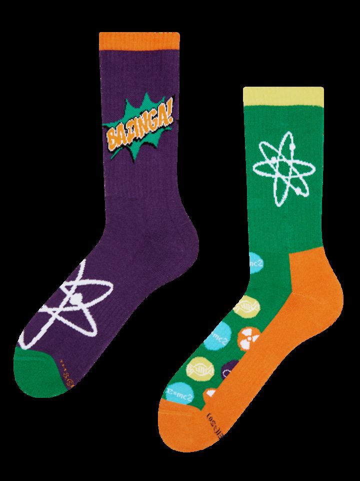 Potešte sa týmto kúskom Dedoles Good Mood Sport Socks The Big Bang Theory™ - Bazinga