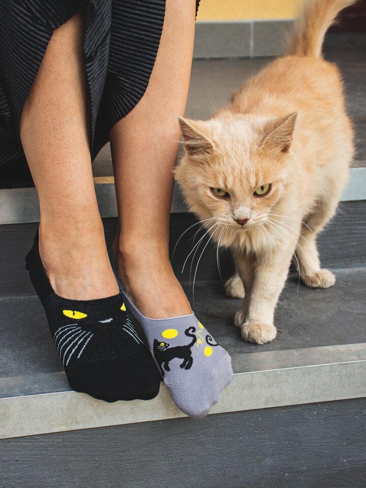 Pre dokonalý a originálny outfit Calcetines invisibles alegres Ojos de gato