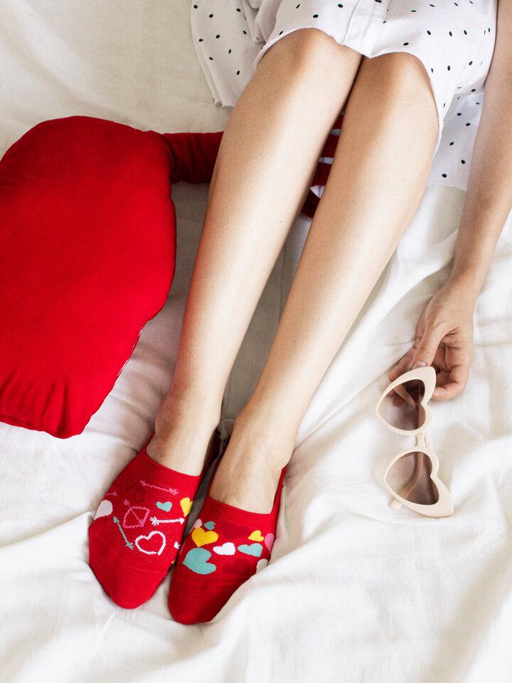 Obrázok produktu Весели невидими чорапи Сърца