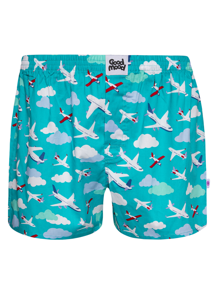 Original gift Men's Boxer Shorts Airplanes & Clouds