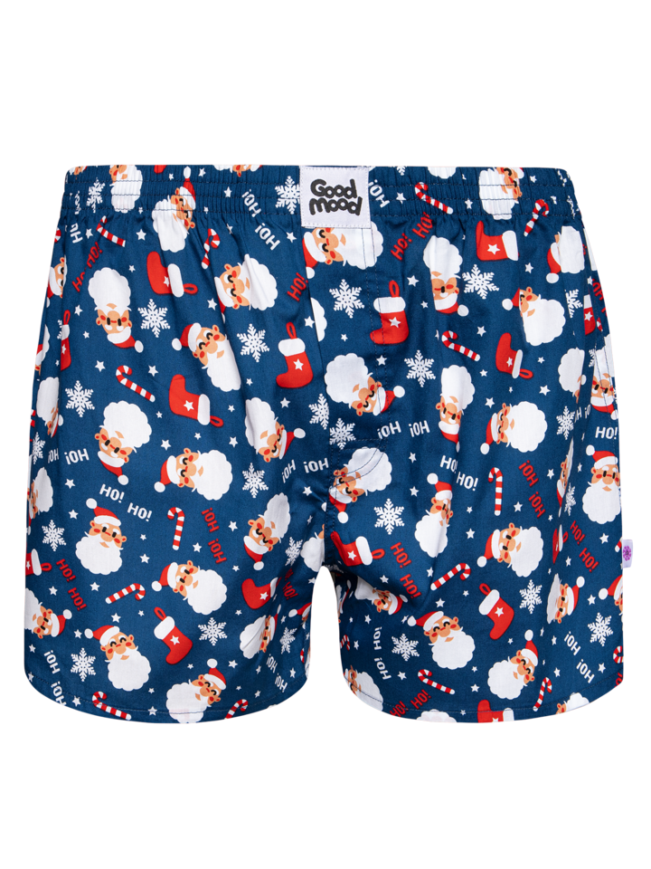 Potešte sa týmto kúskom Dedoles Muške vesele široke bokserice Djed Božićnjak