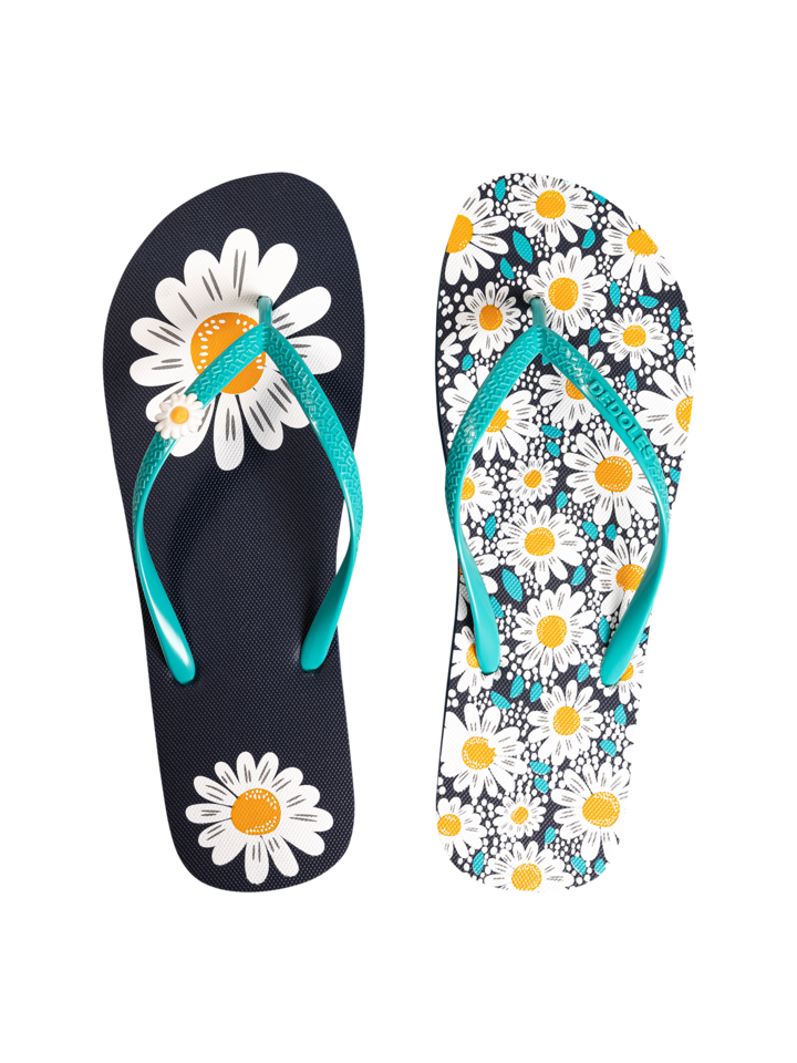 Looking for an original and unusual gift? The gifted person will surely surprise with Flip Flops with Decoration Charm Daisy Blossom