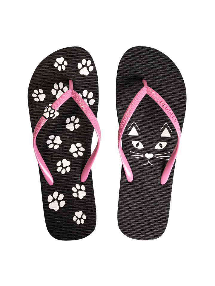 Lifestyle photo Flip Flops with Decoration Charm Kitty